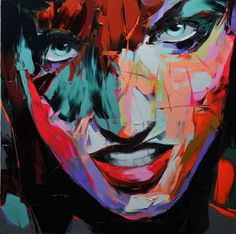 Wonderful new portraits by French painter Françoise Nielly who is absolutely prolific, posting a new work to her website every couple of days it seems. Nielly grew up in the South of France and now lives and works near Montmartre in Paris and her latest exhibition was at Villa del Arte in Barcelona earlier this year.