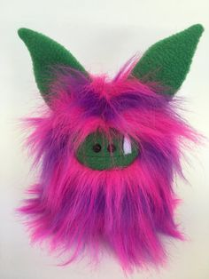 Plush Monster  OOAK Hand Stitched Soft Toy  by ItsHandmadeByAndrea