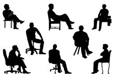 Sitting Silhouette of Business Executives | Silhouette Clip ArtSilhouette Clip Art