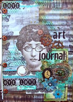 Olga Helge: mixed media Mixed Media, Collage, Art Journals, Journaling, Books, Cards, Inspiration, Ideas, Livros