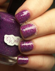 I have a weakness for purple. From The Nailasaurus: WellNails Swatches: Foxy Fishbabe