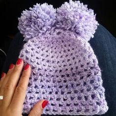 Crocheted bear hat for my niece