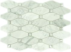 Euro Glass  Backsplash, Unique Shapes, Imperial Cloud IS1, Polished, White, Glass and Stone