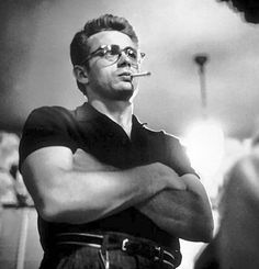 James Dean Wearing Browline Eyeglasses, and Looking Quite Like James Franco! Classic Hollywood, Old Hollywood, Hollywood Icons, Hollywood Stars, James Dean Photos, Pier Paolo Pasolini, Jimmy Dean, East Of Eden, Photo Vintage