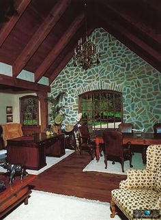Office Room - Michael Jacksons Neverland Valley Ranch - 5225 Figueroa Mountain Road, Los Olivos, CA