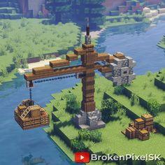 Minecraft Steampunk, Casa Medieval Minecraft, Minecraft Farm, Minecraft Mansion, Minecraft Cottage, Cute Minecraft Houses, Minecraft Castle, Minecraft Plans, Minecraft Construction