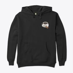 Unisex hoodie, coffee and food lover apparels. Click the link for more colors, styles and designs. Order yours now. 🖤