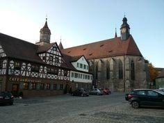 Stiftskirche ehem. Benediktinerkloster St. Salvator in Feuchtwangen.  817 erstmals urkundlich erwähnt. - https://www.instagram.com/artpla_net/