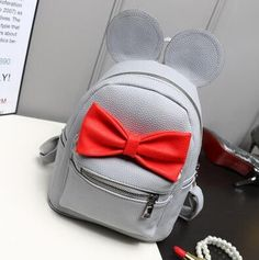 Fashion new Women Backpack Designers Brand for Teenage Girl High Quality PU leather school backpack Cute Bow Large capacity bag