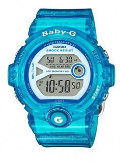 bb85c4b6a925f Casio Women s Blue Jelly Alarm Chronograph Lap Memory Baby G Watch
