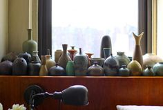 Brad Ford ID, New York Apartment, Scandinavian ceramics with subtle colorful glazing, Remodelista