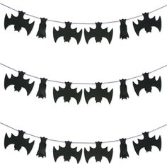 You will go batty for these cute, upside down hanging bats. String them in a banner, or hang them individually.