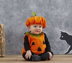 Baby Pumpkin Costume {baby halloween} $29 |  Pottery Barn Kids