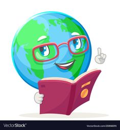 Happy Emotions, Globe Icon, Ecology, Cartoon Art, Smurfs, Character Art, Vector Free, Books To Read, Earth