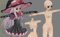 anime face topology