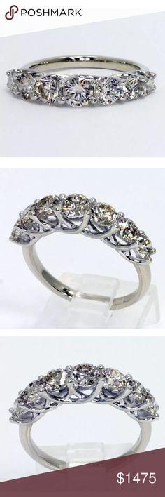 1.80 carat 14k light champagne diamond ring 1.80 carat 14k white gold light champagne diamond ring Jewelry Rings