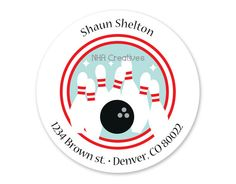 Personalized Bowling Address Label  DIY Printable by NHACreatives, $6.50