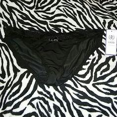 Izod black panties sz large new Izod brand New Black Lace trim Size large Price sticker has sticky stuff on it Izod label on the back Trade value 9 IZOD Intimates & Sleepwear Panties