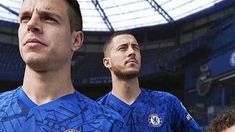 a6a3a287f Real Madrid target Hazard front   centre as Chelsea launch new kit ...