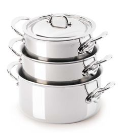 Mauviel M'cook 5 Ply Stainless Steel 5231.17 1.9-Quart Stewpan And Lid With Cast Stainless Steel Handle - Cookware Canada