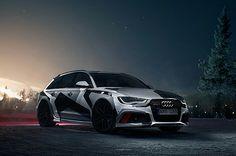 Snow camo Audi RS6 Avant