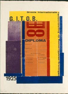 H.N. Werkman - Diploma Groote Internationale Tentoonstelling Op Bakkerijgebied / Diploma for International Baking Convention, Groningen 1925