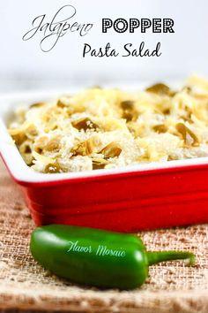 Jalapeño Popper Pasta Salad - Flavor Mosaic - #bbq #sides #pastasalad