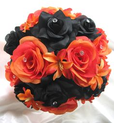orange and black wedding flowers - Google Search
