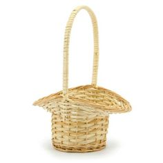 Simple and inexpensive flower girl basket - can decorate with flowers and ribbons Floral Wedding, Wedding Flowers, Willow Flower, Basket Willow, Flower Girl Basket, Floral Supplies, Floral Centerpieces, Gift Bags, Wicker