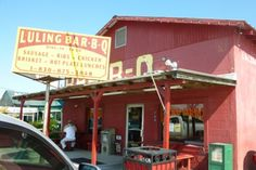 The colorful exterior of Luling Bar-B-Q. Photograph by RioGailTX