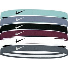 Nike Women's Swoosh Sport Headbands – 6 Pack, Blue If you're searching for hairstyles that Nike Tie Headbands, Soccer Headbands, Thin Headbands, Athletic Headbands, Nike Outfits, Sport Outfits, Nike Christmas Gifts, Under Armour Headbands, Ball Hairstyles