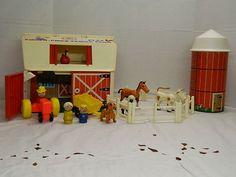 Circa 1968 Fisher Price barn.  To be used for speech therapy.