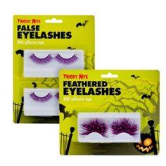 Feather False Eye Lashes Assorted - Halloween Fancy Dress - Halloween #poundlandhalloween