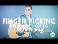 Introduction to Finger Picking - Guitar Lesson Guitar Chords, Acoustic Guitar, Ukulele, Guitar Tips, Guitar Lessons, Guitar Classes, Guitar Notes, Hillsong United, Guitar Tutorial