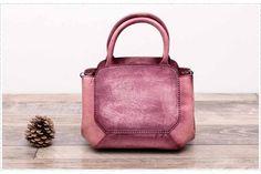 Handmade Genuine Full Grain Leather Tote Bag Handbag WF 81 - ArtofLeather