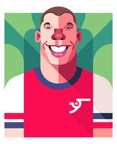Lukas Podolski (9) Art Print by Daniel Nyari | Society6