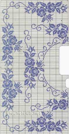 Cross Stitch Fruit, Cross Stitch Rose, Cross Stitch Borders, Cross Stitch Flowers, Cross Stitch Patterns, Vintage Crochet Patterns, Embroidery Patterns Free, Doily Patterns, Filet Crochet Charts