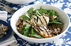 Chargrilled pumpkin and haloumi salad  Solve a dinner dilemma with this easy Chargrilled pumpkin and haloumi salad recipe.