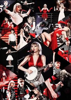 Taylor swift. All the outfits she wears onstage for the RED tour.