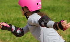 The Rollerblade® Microblade skate is the best adjustable inline skate for kids on the market. Now, with an even easier closure system young skaters can do it all on their own. Inline Skates For Kids, Bicycle Helmet, Closure, Easy, Cycling Helmet