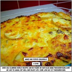 mince and potato casserole