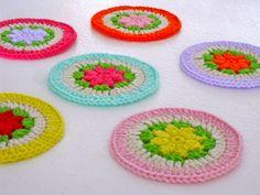 crochet flower coaster Part 5 - the last - free crochet pattern