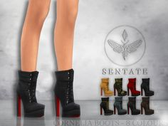Lana CC Finds - sssvitlans:   Created By Sentate  Cornelia Boots ...