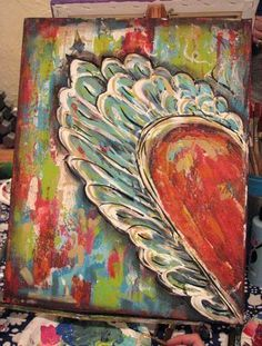 heart with wings Heart Painting, Diy Painting, Painting & Drawing, Art Journal Inspiration, Painting Inspiration, Abstract Images, Abstract Art, Tableau Pop Art, Heart Art
