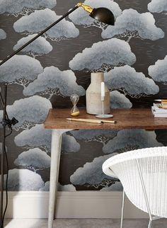 Wolkig floral: Tapete Pines von Little Greene #britisch #englisch #design #tapezieren #vintage