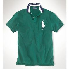 Ralph Lauren Men MILAN Red Black Big Pony Polo