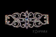 """Lotus""  - Swarovski ballroom bracelet, each one handmade in Canada. Ballroom jewelry, ballroom dancesport accessories. www.tzafora.com Copyright © 2015 Tzafora"
