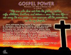 Gospel Power – Wednesday 31st Week