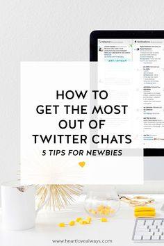 I've recently become OBSESSED with Twitter chats! But they can be a little overwhelming for newbies. To help, I've compiled a list of the five best tips to help YOU get the most out of Twitter chats!! | Social Media Tips | Twitter | Blogger | Small Business Owner | Creative Entrepreneur |