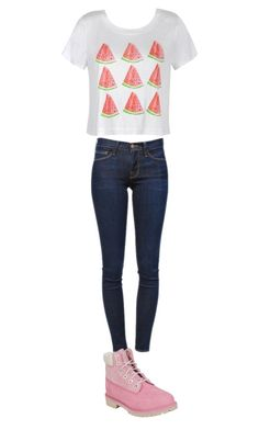 """Untitled #42"" by ssdeamies on Polyvore featuring Ally Fashion, Frame Denim and Timberland"